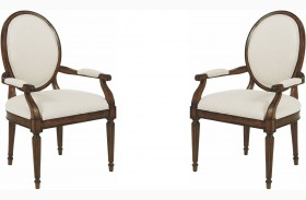 Artisans Shoppe Tobacco Oval Back Arm Chair Set of 2