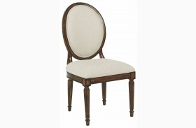 Artisans Shoppe Tobacco Oval Back Side Chair Set of 2
