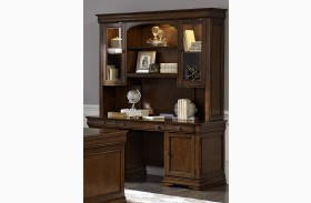 Chateau Valley Brown Cherry Jr Executive Credenza with Hutch