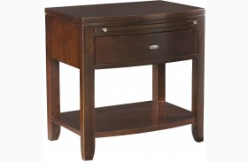 Tribecca Root Beer Leg Nightstand