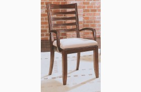 Tribecca Root Beer Splat Arm Chair