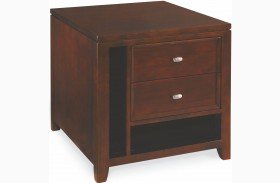 Tribecca Root Beer 2 Drawer End Table