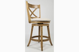 Turner's Landing X Back Swivel Stool Set of 2