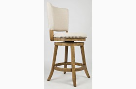 Turner's Landing Upholstered Back Swivel Stool Set of 2