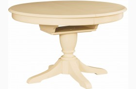 Camden Buttermilk Extendable Round Dining Table