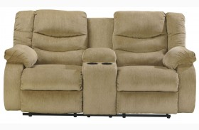 Garek Sand Double Reclining Loveseat with Console