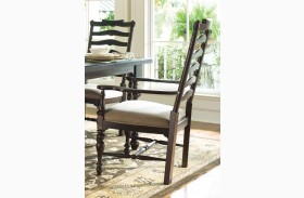 Paula Deen Home Tobacco Mike's Arm Chair Set of 2