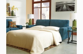 Sagen Teal Queen Sofa Sleeper