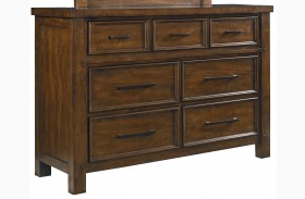 Cameron Youth Warm Tobacco Brown Dresser