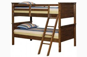 Cameron Youth Warm Tobacco Brown Twin Over Twin Bunk Bed