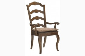 Coventry Hills Autumn Brown Princeton Ladder Back Arm Chair
