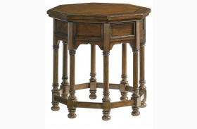 Coventry Hills Autumn Brown Westport Octagonal End Table