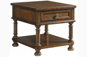 Coventry Hills Autumn Brown Stonington End Table