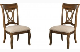 Portolone Truffle Slat Back Side Chair Set of 2