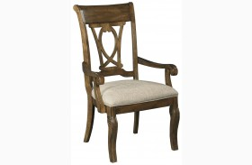 Portolone Slat Back Arm Chair Set of 2
