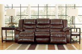 Linebacker DuraBlend Espresso Reclining Sofa