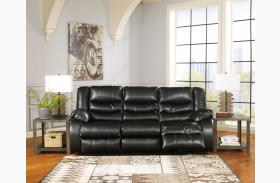LineBacker DuraBlend Black Reclining Sofa