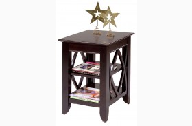 Piedmont Shelf Dark Mocha End Table