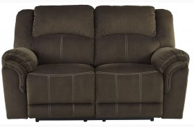 Quinnlyn Coffee Reclining Loveseat