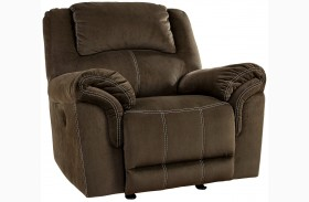 Quinnlyn Coffee Power Rocker Recliner