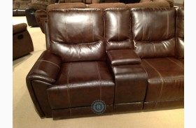 Gerald Left Side Double Reclining Loveseat With Console