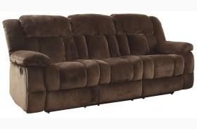 Laurelton Chocolate Double Reclining Sofa