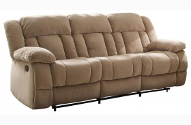Laurelton Taupe Double Reclining Sofa