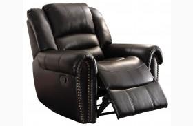 Center Hill Black Glider Reclining Chair