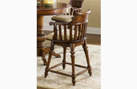 """Crystal Lakes Toffee 24"""" Swivel Counter Chair"""