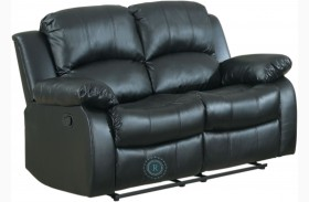 Cranley Black Double Reclining Loveseat