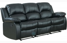 Cranley Black Double Reclining Sofa