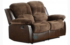 Cranley Dark Brown Double Reclining Loveseat