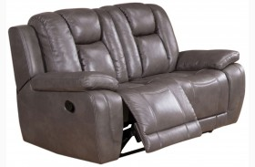 Austin Smoke Grey Reclining Loveseat