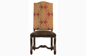 Costa Del Sol Dark Woodtone Perdonato Side Chair