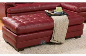 Brooks Red Ottoman