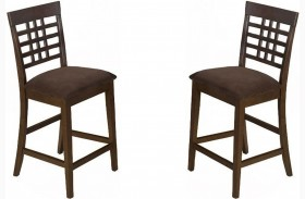 Caleb Brown Slat Back Counter Height Stool Set of 2