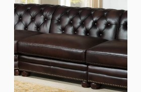 Kennedy Brown Armless Loveseat