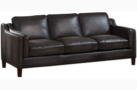 Ballari Weathered Grey Leather Sofa