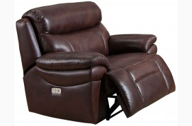 Summerlands II Brown Headrest Power Recliner