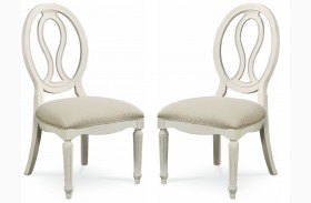 Summer Hill Cotton Pierced Back Side Chair Set of 2