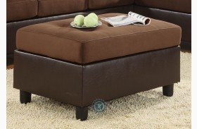 Comfort Living Chocolate Ottoman