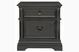 Brookfield Antique Black Nightstand