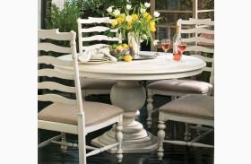 Paula Deen Home Linen Round Pedestal Extendable Dining Table
