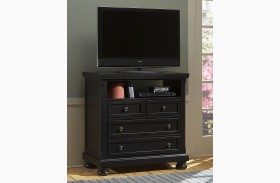 Reflections Ebony 4 Drawer Entertainment Center