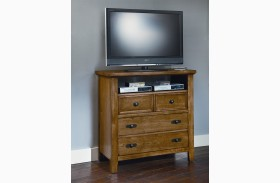Timber Mill Oak 4 Drawer Media Chest