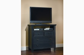 Timber Mill Charcoal 4 Drawer Media Chest