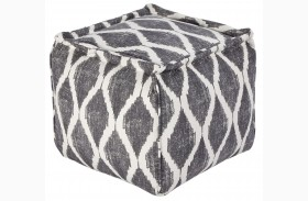 Bruce Gray/White Pouf
