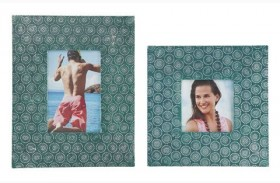 Bansi Teal Photo Frame Set of 2