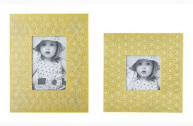 Bansi Yellow Photo Frame Set of 2
