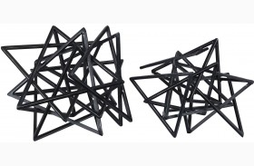 Daitaro Black Sculpture Set of 2